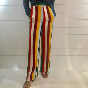 Forever 21 Multicolor Striped Palazzo Pants